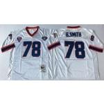 NFL Buffalo Bills B.Smith #78 white Throwback Jersey