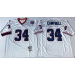 NFL Buffalo Bills Earl Campbell #34 white Throwback Jersey