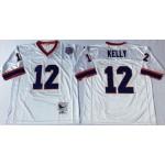 NFL Buffalo Bills Jim Kelly #12 white Throwback Jersey
