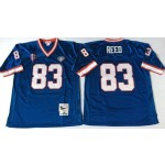 NFL Buffalo Bills Andre Reed #83 blue Throwback Jersey