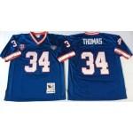 NFL Buffalo Bills Earl Campbell #34 Blue Throwback Jersey