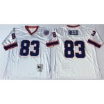 NFL Buffalo Bills Andre Reed #83 white Throwback Jersey
