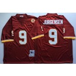 NFL Washington Redskins Sonny Jurgensen #9 red Throwback Jersey