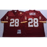 NFL Washington Redskins Darrell Green #28 Red Throwback Jersey