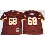 NFL Washington Redskins Russ Grimm #68 Red Throwback Jersey