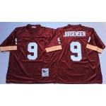 NFL Washington Redskins Sonny Jurgensen #9 red withour Logo Throwback Jersey