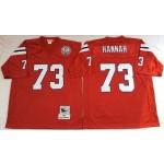 NFL New England Patriots John Hannah #73 Red Throwback Jersey