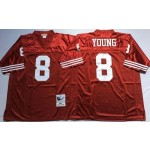 NFL San Francisco 49ers Steve Young #8 Red Throwback Jersey