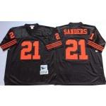 NFL San Francisco 49ers Deion Sanders #21 Black Throwback Jersey