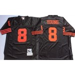 NFL San Francisco 49ers Steve Young #8 Black Throwback Jersey