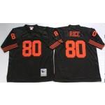 NFL San Francisco 49ers Jerry Rice #80 Black Throwback Jersey