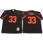 NFL San Francisco 49ers Roger Craig #33 Black Throwback Jersey