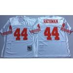 NFL San Francisco 49ers Tom Rathman #44 White Throwback Jersey