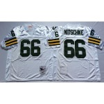 NFL Green Bay Packers Ray Nitschke #66 White Throwback Jersey