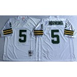 NFL Green Bay Packers Paul Hornung #5 White Throwback Jersey