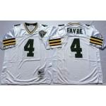 NFL Green Bay Packers Brett Favre #4 White Throwback Jersey
