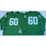 NFL Green Bay Packers #60 Green Throwback Long Sleeve Jersey