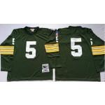 NFL Green Bay Packers Paul Hornung #15 Green Throwback Long Sleeve Jersey