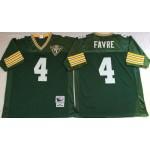 NFL Green Bay Packers Brett Favre #4 Green Throwback Jersey