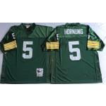 NFL Green Bay Packers Paul Hornung #5 Green Throwback Jersey