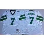 NFL Philadelphia Eagles Ron Jaworski #7 White Throwback Jersey