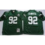 NFL Philadelphia Eagles Reggie White #92 Green Throwback Jersey