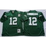 NFL Philadelphia Eagles Randall Cunningham #12 Green Throwback Jersey