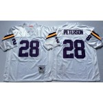 NFL Minnesota Vikings Adrian Peterson #28 white Throwback Jersey