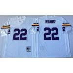 NFL Minnesota Vikings Paul Krause #22 white Throwback Jersey