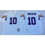 NFL Minnesota Vikings Fran Tarkenton #10 white Throwback Jersey