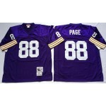 NFL Minnesota Vikings Alan Page #88 Purple Throwback Jersey