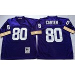 NFL Minnesota Vikings Cris Carter #80 Purple Throwback Jersey