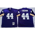 NFL Minnesota Vikings Chuck Foreman #44 Purple Throwback Jersey