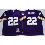 NFL Minnesota Vikings Paul Krause #22 Purple Throwback Jersey