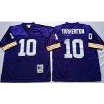 NFL Minnesota Vikings Fran Tarkenton #10 Purple Throwback Jersey