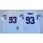 NFL Minnesota Vikings John Randle #93 White Throwback Jersey
