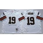 NFL Cleveland Browns Bernie Kosar #19 White Throwback Jersey