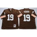 NFL Cleveland Browns Bernie Kosar #19 Brown Throwback Jersey