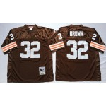 NFL Cleveland Browns Jim Brown #32 Brown Throwback Jersey