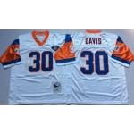 NFL Denver Broncos Terrell Davis #30 White Throwback Jersey