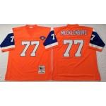 NFL Denver Broncos Karl Mecklenburg #77 Orange Throwback Jersey