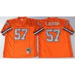 NFL Denver Broncos T.Jackson #57 Orange Throwback Jersey