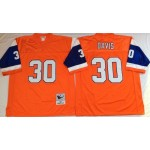 NFL Denver Broncos Terrell Davis #30 Orange Throwback Jersey