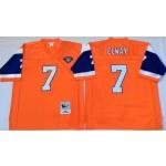 NFL Denver Broncos John Elway #7 Orange Throwback Jersey