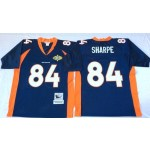 NFL Denver Broncos Shannon Sharpe #84 Blue Throwback Jersey