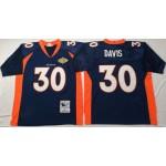 NFL Denver Broncos Terrell Davis #30 Blue Throwback Jersey