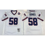 NFL New York Giants Carl Banks #58 White Throwback Jersey