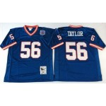 NFL New York Giants Lawrence Taylor #56 blue Throwback Jersey