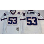 NFL New York Giants Harry Carson #53 White Throwback Jersey