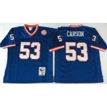 NFL New York Giants Harry Carson #53 blue Throwback Jersey